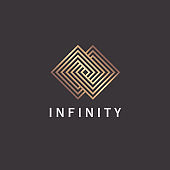 Vector  design template for interior and home decoration. Infinity sign