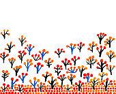 Autumn trees border, pattern