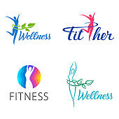 Fitness and wellness vector design template