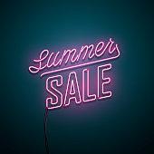 Summer sale neon sign