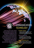 Flyer design example. Global communications.