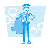 Super policeman at duty