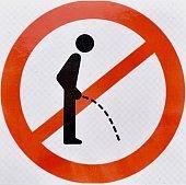 Humorous sign in toilet facilities