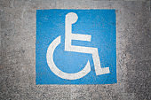 Handicapped parking spot marking