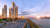 View Of Seoul city at sunrise South Korea
