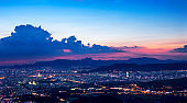 AerialView Of Seoul city at Sunset South Korea