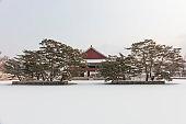 Winter in Gyeongbokgung Palace, Seoul South Korea
