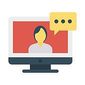 video chat   bubble   message