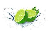 lime splash water