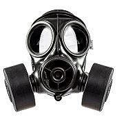 gas mask on white