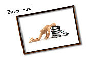wooden mannequin problem ideas - Burn out - exhausted on work