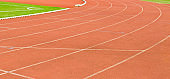 Tartan track in a stadium