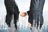 Analysis, finance and teamwork concept