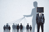 Abstract TV brainwash background