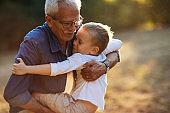 Grandson-grandpa love