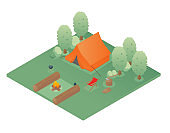 isometric camping land