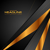 Black and bronze colors abstract modern background