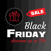 SALE. Banner for Black Friday. Vector illustration