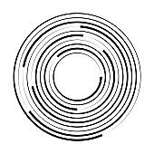 Concentric circle geometric element. Vector illustration