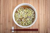 sudachi citrus soba, japanese backwheat