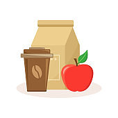 Lunch food icon. Vector illustration
