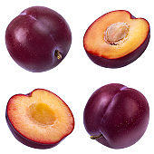 plum on a white
