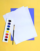 A paint set and paper