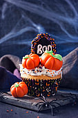 Cupcakes with pumpkins