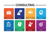 Consulting Infographic Icon Set