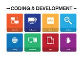 Coding and Development Infographic Icon Set