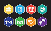 Partnership Infographic Icon Set