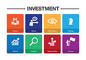Investment Infographic Icon Set