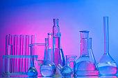 Laboratory glass in light