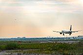 Airplane landing Pearson International airport
