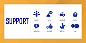 Support Infographic Icon Set