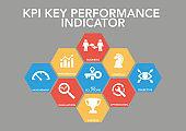 Kpı Key Performance Indıcator Icon Concept