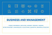 Business and Management Infographic Icon Set