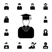 avatar of the student icon. Detailed set of avatars of profession icons. Premium quality graphic design icon. One of the collection icons for websites, web design, mobile app