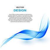 Abstract vector background, transparent waved lines for brochure, website, flyer design