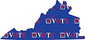 Virginia Vote Map
