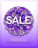 Sale vector background