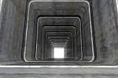 Abstract Geometric Shapes Tunnel