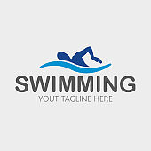 swimming icon, vector swimming pool, water swim sport.