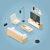 Isometric Smart Home Illustration
