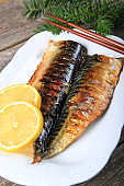 Plate of Grilled Mackerel