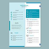 modern classy cv resume template