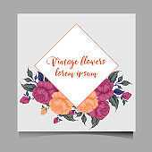 Hand-drawing peonies. Vector graphic flowers. Decorative background for cards, invitations.