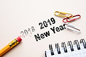 2019 New Year. cencept for action and reaching goals