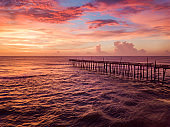 A Pier at sunrise