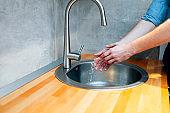 Washing hands keeps bacteria away
